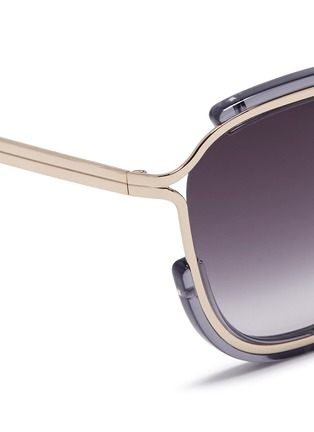 Detail View - Click To Enlarge - Chloé - 'Jayme' metal temple square resin sunglasses