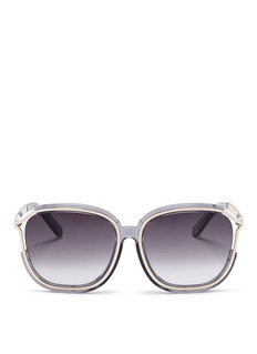 Chloé 'Jayme' metal temple square resin sunglasses