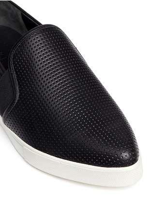 Detail View - Click To Enlarge - Vince - 'Pierce' perforated leather skate slip-ons