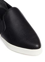 'Pierce' perforated leather skate slip-ons