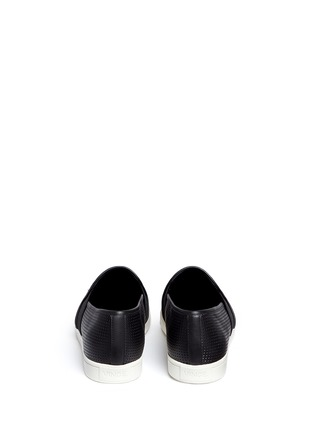 Back View - Click To Enlarge - Vince - 'Pierce' perforated leather skate slip-ons