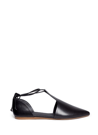 Vince - 'Noella' leather lace-up d'Orsay flats