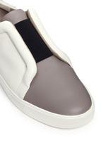 'Caden' colourblock leather slip-on sneakers