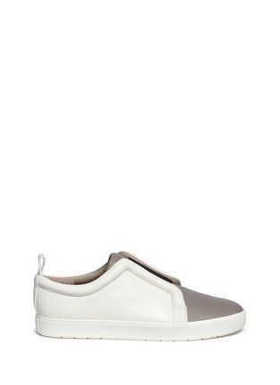Main View - Click To Enlarge - Vince - 'Caden' colourblock leather slip-on sneakers