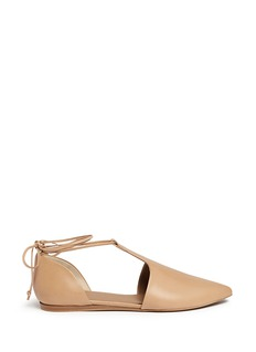 VINCE 'Noella' leather lace-up d'Orsay flats