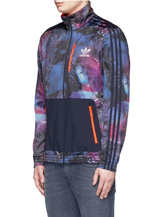 Front View - Click To Enlarge - Adidas - 'Running Beckenbauer' print track jacket