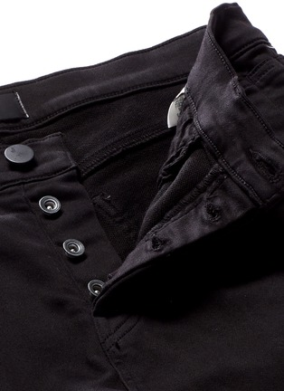 Detail View - Click To Enlarge - J Brand - 'Bearden Moto' quilted knee pants