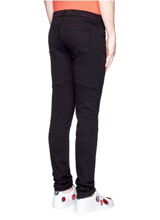 Back View - Click To Enlarge - J Brand - 'Bearden Moto' quilted knee pants