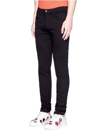 Front View - Click To Enlarge - J Brand - 'Bearden Moto' quilted knee pants