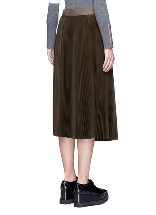 Back View - Click To Enlarge - Sacai - Lamé pleated flannel wrap midi skirt