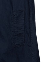 Embellished collar long cotton jacket