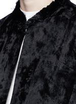 Fringe hem moquette coat