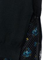 Fishnet mesh combo wool sweater dress