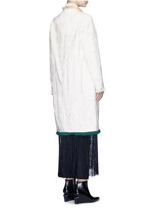 Back View - Click To Enlarge - TOGA ARCHIVES - Fringe hem moquette coat