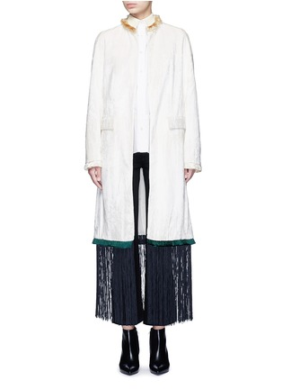 Main View - Click To Enlarge - TOGA ARCHIVES - Fringe hem moquette coat
