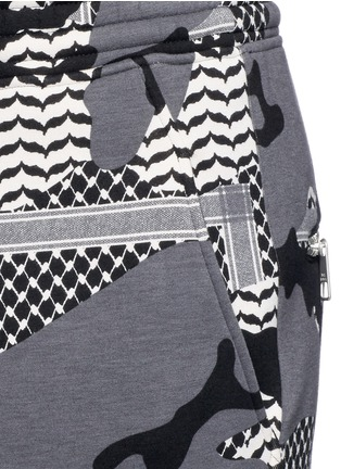 Detail View - Click To Enlarge - Neil Barrett - Keffiyeh check camouflage print bonded shorts
