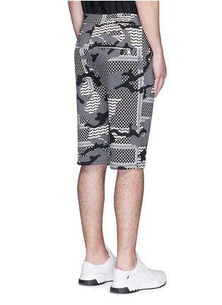 Back View - Click To Enlarge - Neil Barrett - Keffiyeh check camouflage print bonded shorts