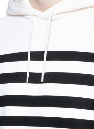 Detail View - Click To Enlarge - Neil Barrett - Nautical stripe print bonded jersey hoodie