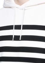 Nautical stripe print bonded jersey hoodie