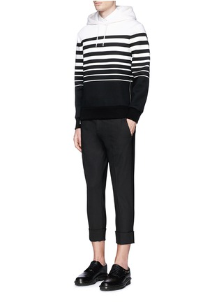 Figure View - Click To Enlarge - Neil Barrett - Nautical stripe print bonded jersey hoodie