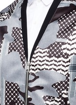 Keffiyeh check camouflage print blouson jacket