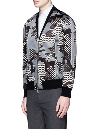 Front View - Click To Enlarge - Neil Barrett - Keffiyeh check camouflage print blouson jacket