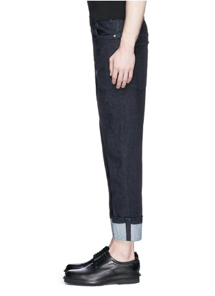 Detail View - Click To Enlarge - Neil Barrett - Rolled cuff jeans
