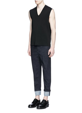 Figure View - Click To Enlarge - Neil Barrett - Rolled cuff jeans