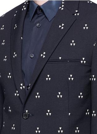 细节 - 点击放大 - NEIL BARRETT - 三角印花混棉西服外套