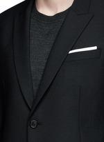 Peak lapel stretch gabardine skinny fit blazer