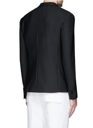 Back View - Click To Enlarge - Neil Barrett - Peak lapel stretch gabardine skinny fit blazer