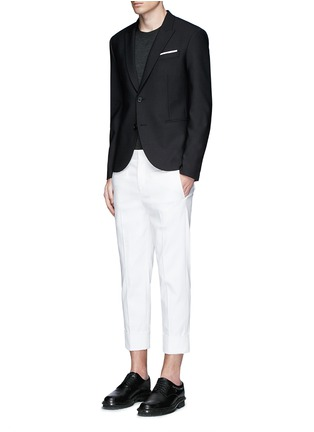 Figure View - Click To Enlarge - Neil Barrett - Peak lapel stretch gabardine skinny fit blazer