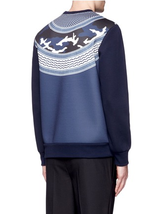 Back View - Click To Enlarge - Neil Barrett - Keffiyeh wave camouflage bonded jersey sweatshirt