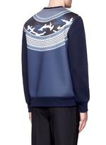 Keffiyeh wave camouflage bonded jersey sweatshirt
