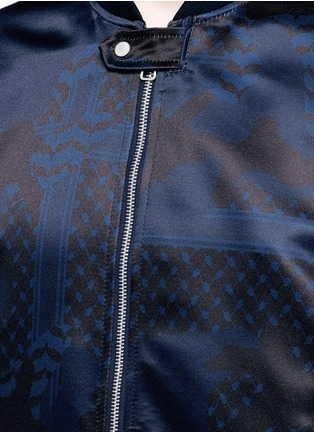 Detail View - Click To Enlarge - Neil Barrett - Keffiyeh check camouflage print bomber jacket