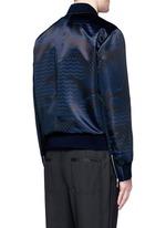 Keffiyeh check camouflage print bomber jacket