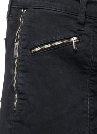 Detail View - Click To Enlarge - J Brand - 'Genesis' zip front luxe twill utility pants