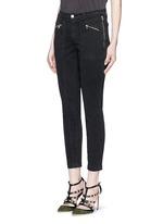 'Genesis' zip front luxe twill utility pants