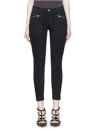 Main View - Click To Enlarge - J Brand - 'Genesis' zip front luxe twill utility pants