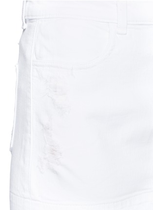 Detail View - Click To Enlarge - J Brand - 'Leila' distressed denim pencil skirt