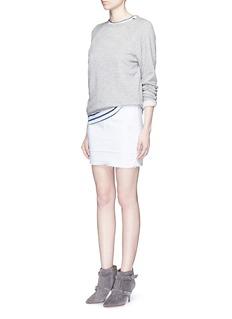 J BRAND'Leila' distressed denim pencil skirt