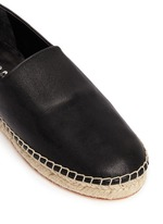 'Keata' leather espadrille slip-ons