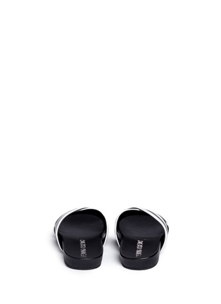 Back View - Click To Enlarge - Opening Ceremony - 'Jourdena' stripe leather slide sandals