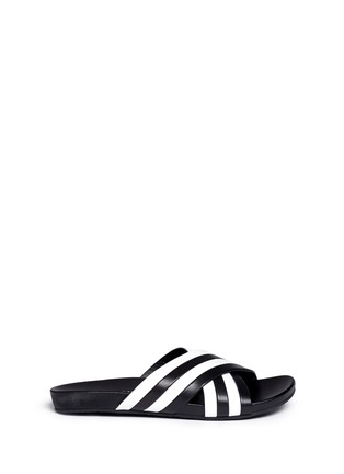 Main View - Click To Enlarge - Opening Ceremony - 'Jourdena' stripe leather slide sandals