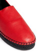 'Keata' leather espadrille slip-ons