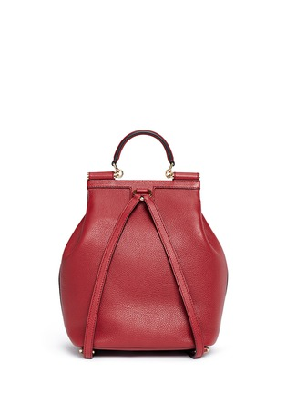 Dolce & Gabbana - 'Miss Sicily' medium grainy leather backpack
