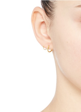 Figure View - Click To Enlarge - Maria Black - 'Klaxon Twirl' spiral earrings