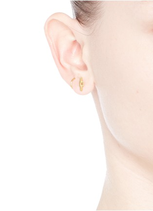 Maria Black - 'Aurore' gold plated sterling silver twirl earrings