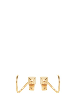 Main View - Click To Enlarge - Maria Black - Marble' gold plated stud twirl earrings