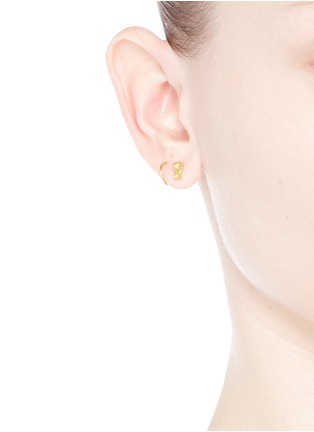 Figure View - Click To Enlarge - Maria Black - Marble' gold plated stud twirl earrings